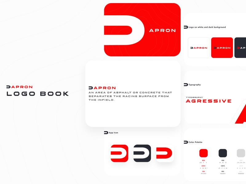 Apron Logo Design news motogp f1 motorsport apron app ui typography logo identity design branding