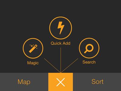 """iOS """"add"""" menu options"""