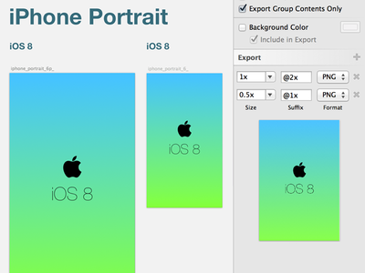 iOS 8 Launch Screen Template for Sketch