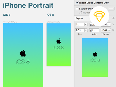 iOS 8 launch screen template for Sketch3