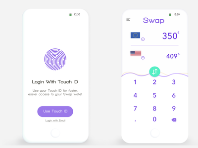 Swap website web app branding ui design illustration