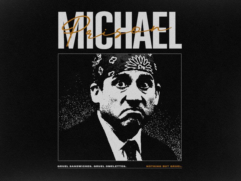 e04bf4b0e Prison Michael t-shirt poster retro minimal prison mike michael scott the  office typography