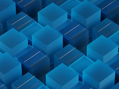 Blue cubes colorful cinema4d c4d artwork art illustration 3d lowpoly blue composition