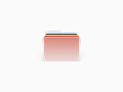 Folder Icon ux icon ui icon user interface icon mac icon macos icon osx icon skeu skeuomorph skeuomorphism office file folder document glass folder sandor realistic app icon