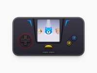 Game Boy game launcher cat gold coin gamepad switch 3ds playstation game park psp game gear gamate game boy gameboy game player handheld  game console realistic app icon macos icon mac icon sandor