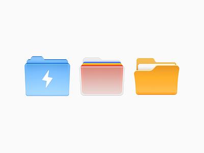 Folder Icons file holder ux icon ui icon user interface icon skeu skeuomorph skeuomorphism mac icon macos icon osx icon folder icon sandor realistic office glass app icon