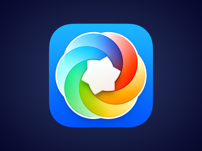 Color Palette Icon for macOS Big Sur big sur bigsur colorful flower rainbow color windmill color swatch color palette ux icon ui icon user interface icon skeu skeuomorph skeuomorphism mac icon macos icon osx icon ios icon iphone icon realistic app icon sandor
