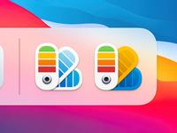 Color Card Icon 2 ux icon user interface icon ui icon skeu skeuomorph skeuomorphism sandor realistic rainbow color pantone color card metal button mac icon macos icon osx icon ios icon iphone icon color swatch color palette colorful flower bigsur big sur app icon