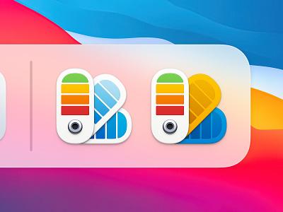 Color Card Icon 2 big sur bigsur ux icon user interface icon ui icon skeu skeuomorph skeuomorphism sandor realistic rainbow color pantone color card metal button mac icon macos icon osx icon ios icon iphone icon color swatch color palette colorful flower app icon