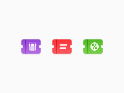 Coupon Icons shopping voucher note discount coupon gift box gift certificate voucher coupon ux icon ui icon user interface icon skeu skeuomorph skeuomorphism mac icon macos icon osx icon realistic app icon sandor