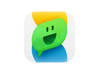 Sticker Message ux icon user interface icon ui icon sticker stickers speech smiley smile face skeu skeuomorph skeuomorphism sandor realistic message popup message bubble mac icon macos icon osx icon ios icon iphone icon expression emoji dialogue dialog chat im bigsur big sur app icon