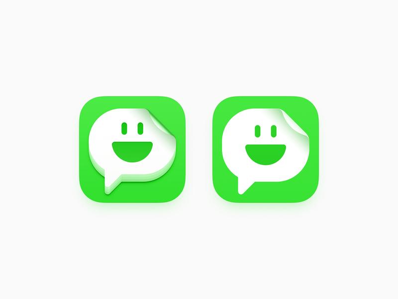 Top Stickers Maker top stickers maker ux icon user interface icon ui icon sticker stickers speech smiley smile face skeu skeuomorph skeuomorphism sandor realistic message popup message bubble mac icon macos icon osx icon ios icon iphone icon expression emoji dialogue dialog chat im bigsur big sur app icon