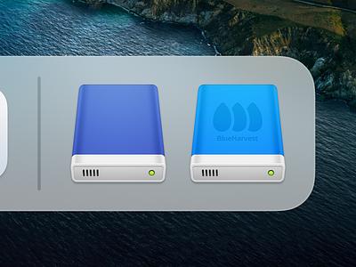 BlueHarvest 2 ux icon user interface icon usb ui icon storage disk skeu skeuomorph skeuomorphism sandor realistic mac icon macos icon osx icon hard disk harddisk data drive data disk blueharvest app icon