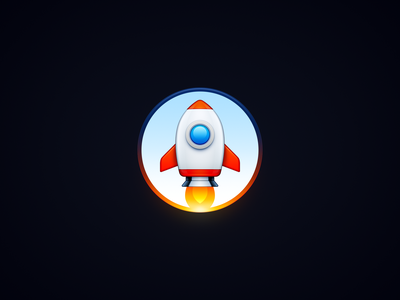 Rocket wing ux icon user interface icon ui icon space ship spaceship space capsule space skeu skeuomorph skeuomorphism sandor rocket realistic mac icon macos icon osx icon engine app icon aircraft engine aircraft
