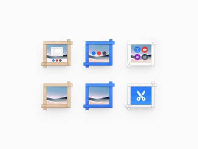 Screenshot 2 ux icon user interface icon ui icon skeu skeuomorph skeuomorphism screenshots screenshot scissors shears clippers sandor ruler drawing realistic mac icon macos icon osx icon crop icon blueprint app icon