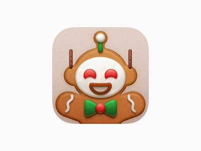 "Gingerbread George - 2020 ""Apollo"" Christmas Themed Icon big sur bigsur soft sweets chocolate stick cookie cookies gingerbread george gingerbread man tie app icon sandor realistic merry christmas christmas apollo apollo for reddit ios icon iphone icon mac icon macos icon osx icon skeu skeuomorph skeuomorphism ui icon"