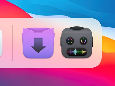 Downie and Permute Icons 2 sandor app icon realistic ios icon iphone icon mac icon macos icon osx icon skeu skeuomorph skeuomorphism bigsur big sur user interface icon ui icon ux icon permute downie video download setapp video converter audio converter video editing robot