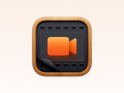 Rottenwood Icon dvd bluray movie database sandor app icon realistic ios icon iphone icon mac icon macos icon osx icon skeu skeuomorph skeuomorphism bigsur big sur user interface icon ui icon rottenwood movie theater video recorder vcr camera film video icon cinema