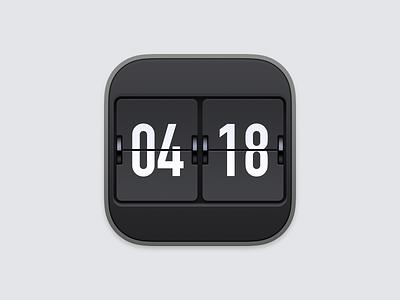 Eon Timer Icon mechanical clock flip clock eon timer ux icon ui icon user interface icon big sur bigsur skeu skeuomorph skeuomorphism mac icon macos icon osx icon ios icon iphone icon realistic app icon sandor