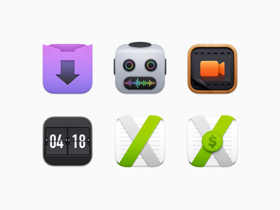 Charlie Monroe Icons mechanical clock flip clock coin dollar usd notebook file manager invoice invoicing ux icon ui icon user interface icon big sur bigsur skeu skeuomorph skeuomorphism mac icon macos icon osx icon ios icon iphone icon realistic app icon sandor