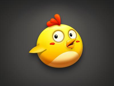 Run chicken! Run! ux icon ui icon user interface icon flying bird animal icon flying chicken game icon bird birdie skeu skeuomorph skeuomorphism mac icon macos icon osx icon realistic app icon sandor chicken run yellow smartisan wing chick