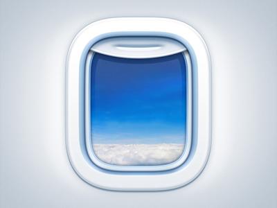 Aircraft Window os icon app icon ios icon mac os icon macos icon mac icon osx icon sandor icon aircraft window airplane plane cloud sky skyline blue