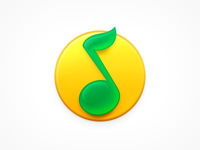QQ Music ux icon ui icon user interface icon music player qq music glass ball note music icon skeu skeuomorph skeuomorphism mac icon macos icon osx icon realistic app icon sandor qq music