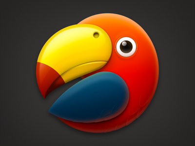 Parrot Icon 512 feather ux icon ui icon user interface icon wing bird icon beak macaw parrot icon skeu skeuomorph skeuomorphism mac icon macos icon osx icon realistic app icon logo icon bird sandor parrot
