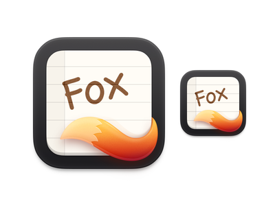 Fox ux icon ui icon user interface icon fox fairy notebook icon to do list note paper note icon fox tail bigsur big sur skeu skeuomorph skeuomorphism mac icon macos icon osx icon ios icon iphone icon realistic app icon handwriting paper tail sandor fox