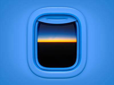 Aircraft Window 2 os icon app icon ios icon mac os icon macos icon mac icon osx icon blue skyline sky cloud plane airplane window aircraft icon sandor