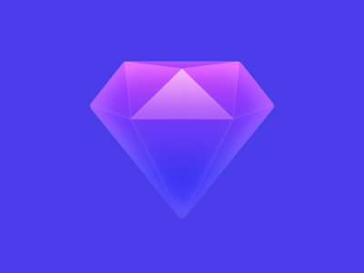 Gem crystal stone crystal amethyst ux icon ui icon user interface icon skeu skeuomorph skeuomorphism mac icon macos icon osx icon app icon realistic sapphire sandor gem diamond
