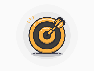 Darts dartboard dart darts line illustration sandor icon iconography outline