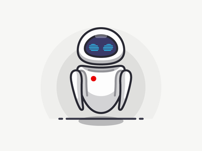 Eve love wall·e eve icon iconography illustration outline sandor line pixar character movie