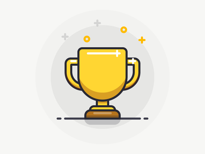 Trophy award line sandor outline illustration iconography icon trophy cup prize gold