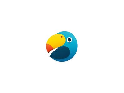 Parrot 2 bird sandor parrot construction dotted stripes logo circle