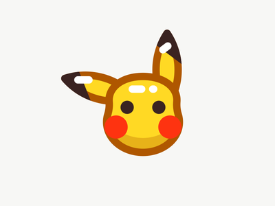 Pikachu line sandor outline illustration iconography icon pokemon go pokemon pikachu