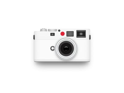 White Leica app iphone icon os icon app icon ios icon mac os icon macos icon mac icon osx icon realistic shot lens camera icon sandor leica m8 leica white