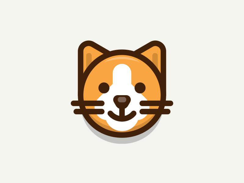 Cat cat kitten character illustration iconography sandor cartoon animal outline cute lovely