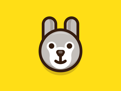 Rabbit smiling lovely cute outline animal cartoon sandor iconography illustration character rabbit