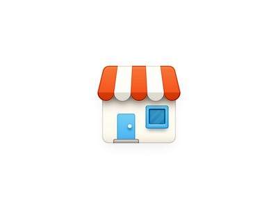 Store Icon app iphone icon os icon app icon ios icon mac os icon macos icon mac icon osx icon store icon sandor house market shop building brick blinds realistic