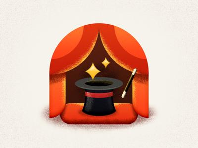 Magic Stage star illustration wand magic wand screen curtain sandor hat magic hat magician stage magic