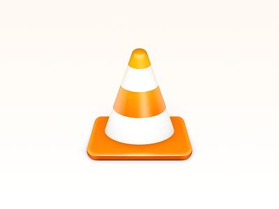 VLC Icon safety bolt roadblock ux icon ui icon user interface icon skeu skeuomorph skeuomorphism mac icon macos icon osx icon app icon realistic vlc player media player sandor media player multimedia vlc