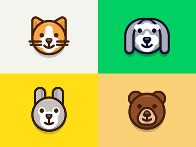 Animals mac emoticon character illustration iconography cartoon outline lovely cute sandor avatar animal