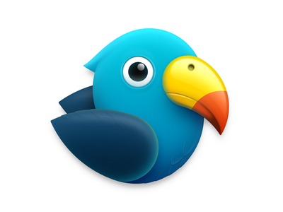 Parrot Icon animal icon macaw wing beak ux icon ui icon user interface icon skeu skeuomorph skeuomorphism mac icon macos icon osx icon app icon sandor parrot logo bird realistic