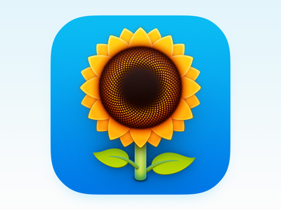 Pflanzomat Icon app iphone icon os icon ios icon mac os icon macos icon mac icon osx icon sandor icon realistic pflanzomat sunflower app icon