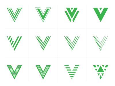 V graphic five plant green sandor logo
