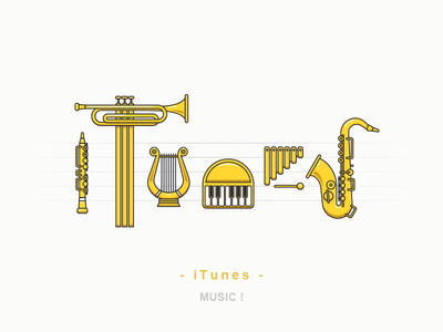 iTunes icon iconography illustration outline sandor line itunes apple