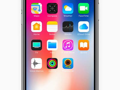 iPhone X - Mockup (fit 2436 x 1125 pixel resolution) iphone ios os icon app icon ios icon mac os icon macos icon mac icon osx icon flat icon sandor ios 11 iphone x