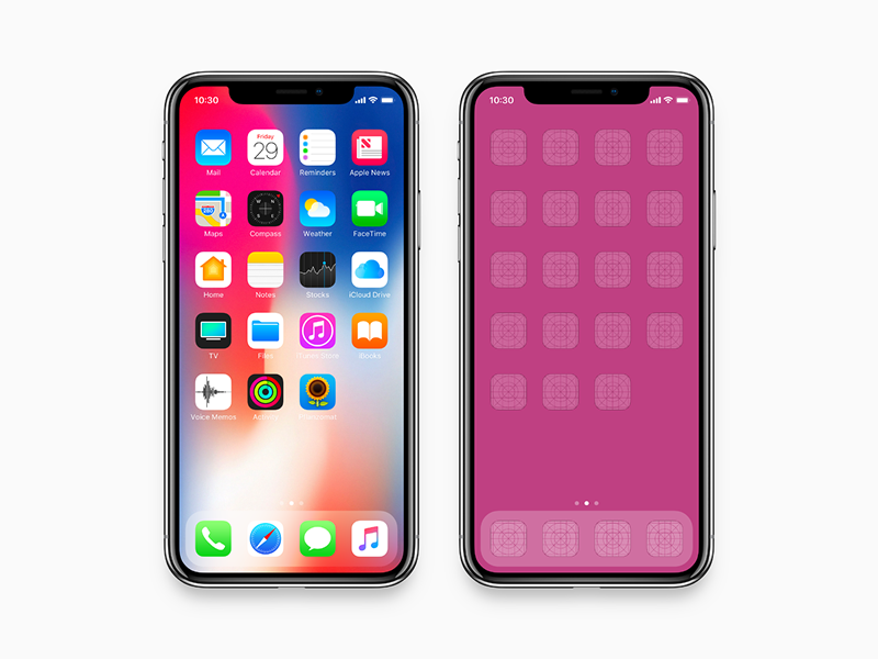 iPhone X - Mockup (fit 2436 x 1125 pixel resolution) by