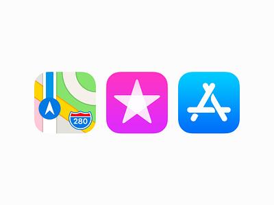 iOS 11 Beta Icon 3 (180 & 1024 pixel) ios 11 ux icon ui icon user interface icon skeu skeuomorph skeuomorphism mac icon macos icon osx icon ios icon iphone icon realistic app icon free psd itunes iphone x beta flat app store maps itunes store sandor
